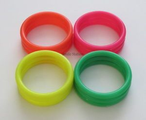 12 Neon Plastic Cane Ring Toss Soda Pop Bottle Game Carnival Circus Party Supply