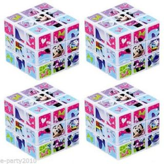 4 Minnie Mouse Puzzle Cubes Birthday Party Supplies Daisy Duck Bowtique