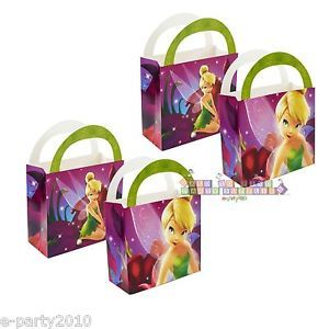 4 Disney Princess Tinkerbell Treat Boxes Birthday Party Supplies Favors