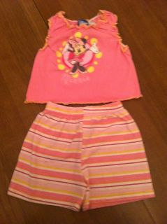 Baby Girls 2T Toddler Minnie Mouse Shirt Shorts Clothes