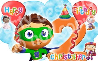 Super Why Edible Cake Image Frosting Sheet Topper