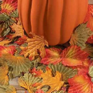 Polyester Decorative Fall Leaves Lot of 250 PC Thanksgiving 3 528