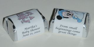 30 Baby Shower Hershey Candy Labels Favors Personalized Wrappers Party Supplies