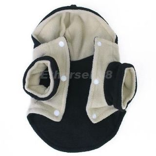 Small Puppy Pet Dog Cotton Hoodie Jacket Coat Bone Warm Winter Clothes Apparel