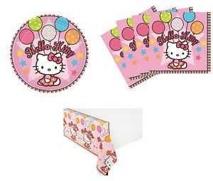 Hello Kitty Birthday Party Supplies Kit Table Set for 16 24 or 32 Table Cover
