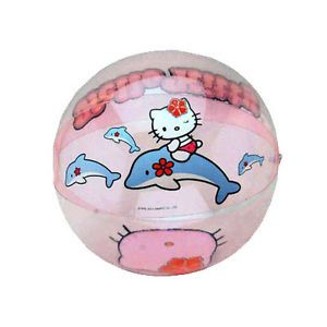 6 Hello Kitty Kids Inflatable Pool Beach Ball Birthday Party Favors Prizes New