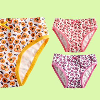 "3 Pcs New Vaenait Baby Toddler Kids Girl Underwear Briefs Pantie Set ""Hanna"""