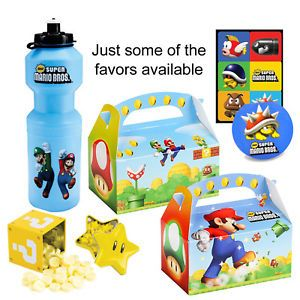 Super Mario Bros Birthday Party Favors 22 Favors to Choose From