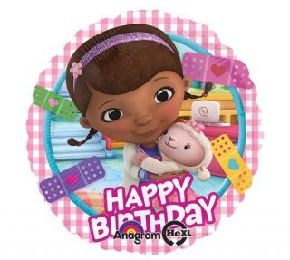"Doc McStuffins 17"" Mylar Balloon Disney Jr Happy Birthday Party with Lamby"