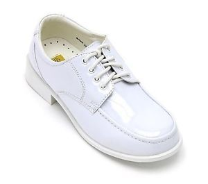 Toddler Kid Boys Formal Shiny Dress Shoes Wedding White