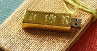 1USB Flash Drive 512GB Gold Bar High End PC Laptop Memory Capacit in Finger Tip