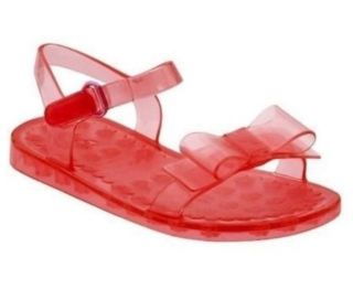 New Baby Gap Toddler Girls Jellies Bow Sandals Shoes Summer Spring Coral Size 8