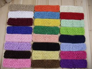 Lot 15pcs Crochet Headband Baby Girls Newbron Infant Toddler DIY to Cilp Flowers
