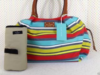 Kate Spade Key West Stevie Baby Bag Stripes Classic Diaper Bag WKRU1917
