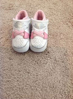 Baby Girls Nike Air Jordan Crib Shoes Sneakers Size 2 2c Pink