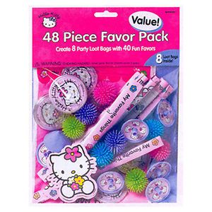 Hello Kitty Balloon Dreams Party Favor Pack 48 PC Birthday Supplies Favors