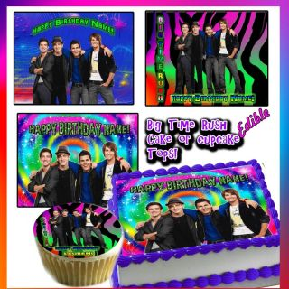 Big Time Rush Toppers Edible Image Frosting Sheet Party Topper for Cake Birthday