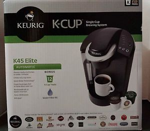 Keurig B45 Elite Black Single Cup Espresso Coffee Machine New