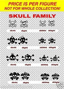 Skull Family Die Cut Stick Figures Family Car Stickers Bumper Decals Window