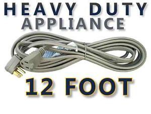 12 ft Appliance Extension Cord for AC Air Conditioner Washer Dryer Power Cable