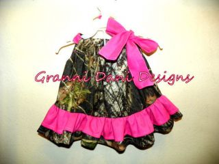 Mossy Oak Camo Camouflage Dress Hot Pink Baby Toddler Girl Christmas Hunter
