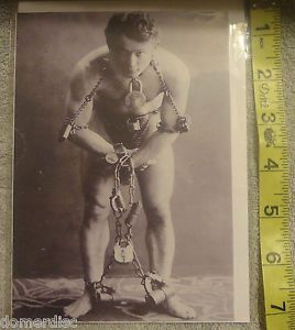Harry Houdini Photo Picture Blank Greeting Card Envelope Paper Street Cards
