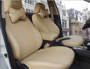 AAA New Beige PU Leather Car Seat Cover 10pc