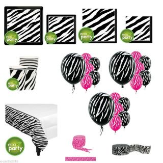 Black White Zebra Animal Print Birthday Party Supplies Pick Only What U Need