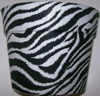 Zebra Skin Theme Planter Flowerpot Party Gift Wrap Basket Supplies Container