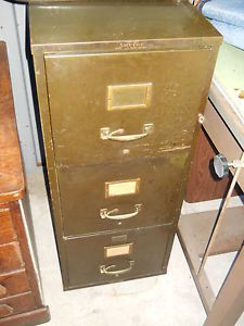 Industrial Machine Age Fire Proof Filing Safe File Cabinet Wheels Office Storage
