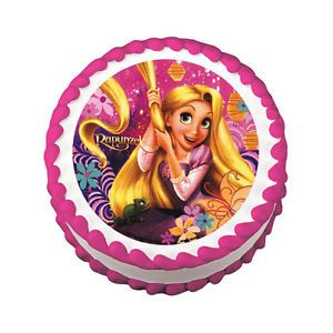 Disney Tangled Edible Icing Birthday Cake Decoration