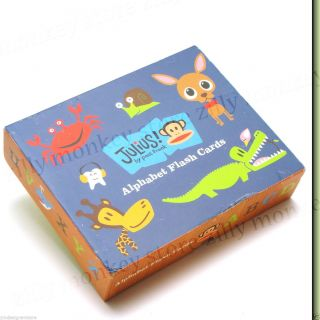 Paul Frank Julius Monkey Alphabet Flash Card Box Set Children Preschool Game