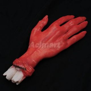 Bloody Latex Fake Hand Horror Body Part Halloween Prop