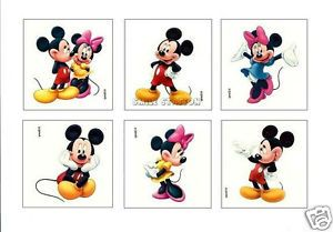 12 Mickey Minnie Mouse Temporary Tattoos Party Goody Bag Filler Favor Supply