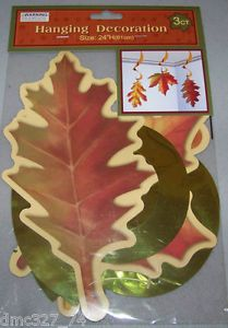 Fall Autumn Decor Leaf Leaves Hanging Swirl Decorations New