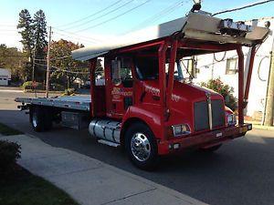 2005 Kenworth T300 4 Car Carrier Flatbed Tow Truck Cummins Diesel Auto Trans