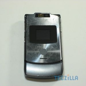 Motorola RAZR V3xx Camera Video Unlocked 3G GSM Flip Phone at T Gray C Stock