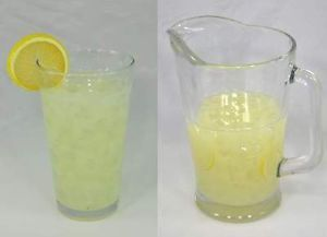 Ice Lemonade Glass Drink Pitcher Set Realistic Fake Food Beverage Summer Prop