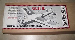 New Vintage Ace R C GLH II Airplane Kit RC USA Balsa Foam 1 2A Racer 50L211
