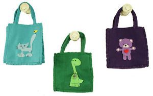 Felt Gift Bags with Unisex Theme Applique Baby Shower Party Favors AC00015