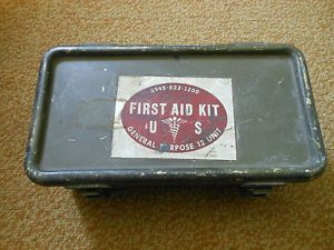 Vintage US Army First Aid Kit Medical General Purpose 12 Unit Military Vietnam