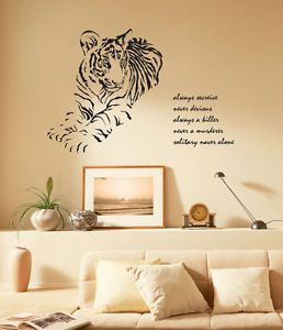 Huge Tiger Adhesive Removable Wall Decor Accents Graphic Stickers Decals Vinyl