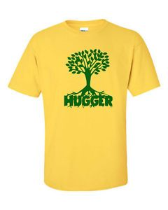 Tree Hugger Leaf Green Environmental Save Activist Earth Hippy Men's Tee Shirt