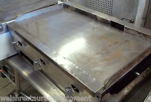 "30"" Griddle Flat Grill Countertop 3 Burner All New Gas Valves Tested Ready"