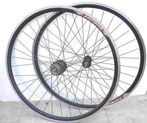 Road BIKE 700C 32H FIXED Gear Front Rear Rims Black Wheelset