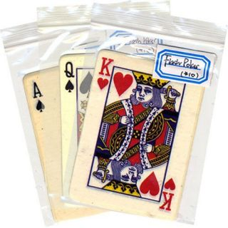Flash Paper Poker Cards 10 Cards Magic Trick