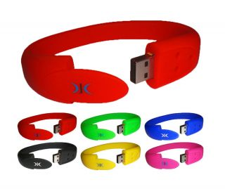 Wristband Bracelet USB Flash Memory Stick Pen Drive 8GB