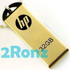 HP V225W 32GB 32G USB Flash Pen Drive Memory Disk Gold