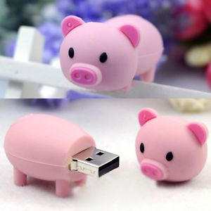 16BG Cute Pink Cartoon Pig USB Memory Flash Drive Stick U Disk Storage Device