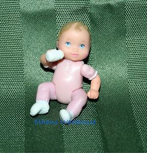 Fisher Price Loving Family Dollhouse Baby Girl Doll Sister Pink w Bottle VHTF